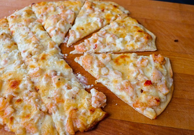 Grilled Seafood Pizza With Lobster And Shrimp