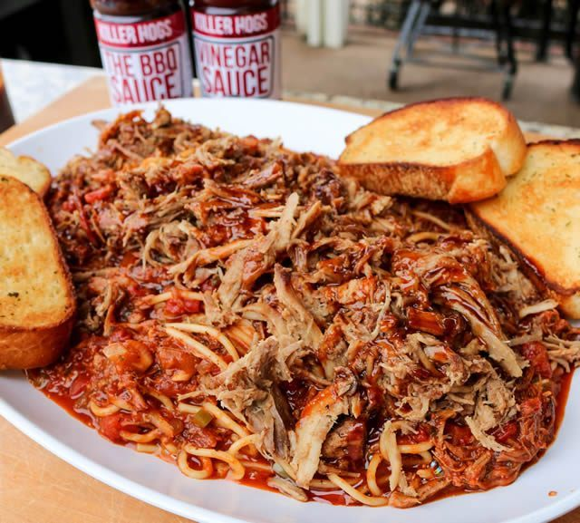 BBQ Spaghetti Recipe | Memphis Style Barbecue Spaghetti with Pulled Pork